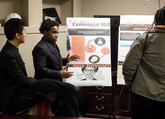 Auburn students present findings on historical neighborhood preservation surveys they did in Montgomery, Ala., on Thursday, Dec. 6, 2018.