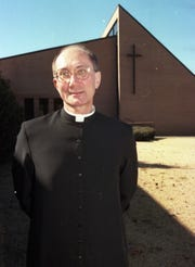 Rev. Arthur Schrenger photographed at Church of the Holy Spirit in Montgomery, Ala., on Tuesday, Nov. 25, 1997.