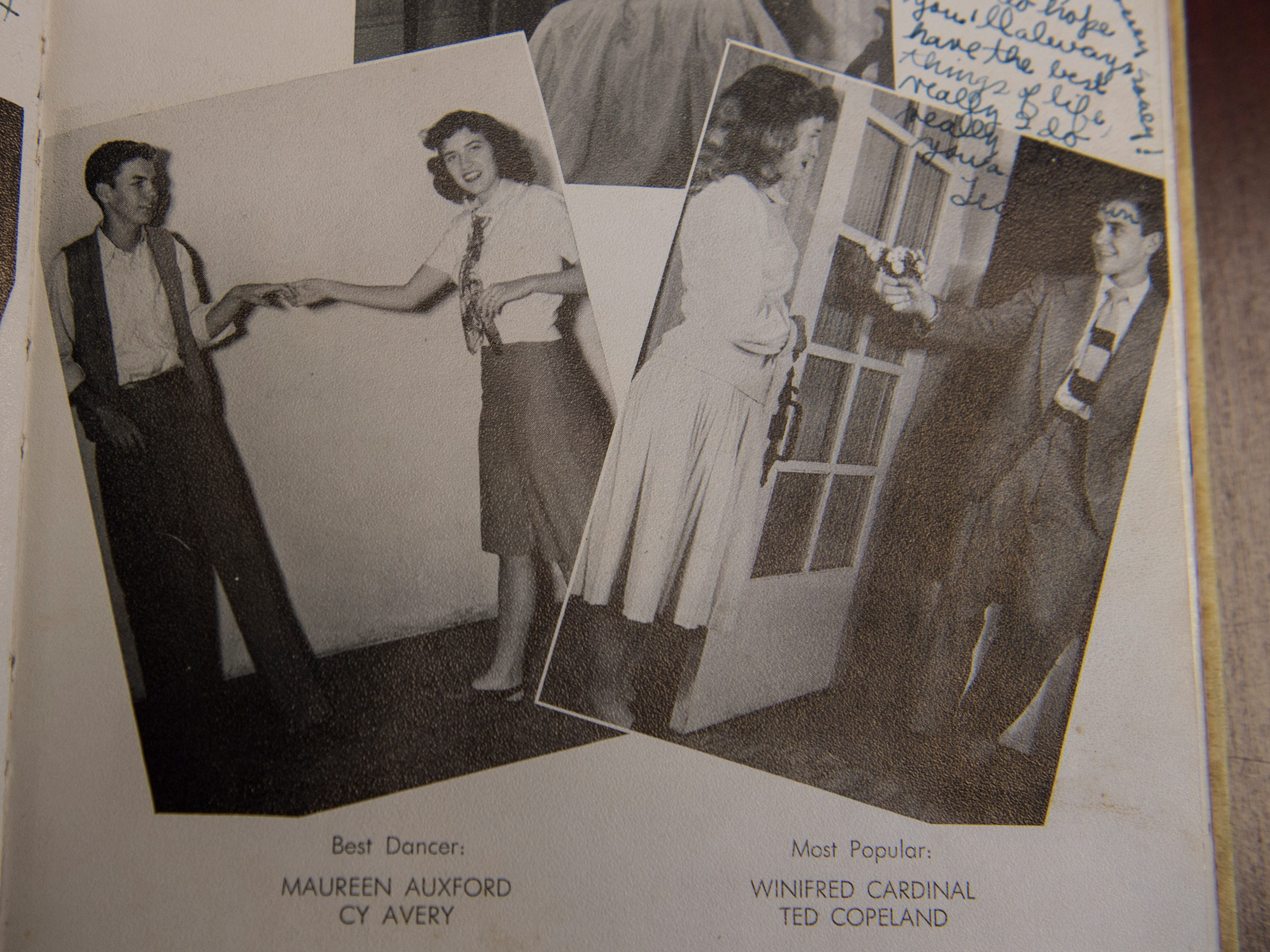 Maureen Auxford (Parks) voted best dancer in a 1948 Lanier High School yearbook photographed in Montgomery, Ala., on Thursday, Dec. 6, 2018.