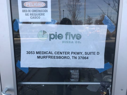 Pie Five Pizza Co. is opening soon on Medical Center Parkway.
