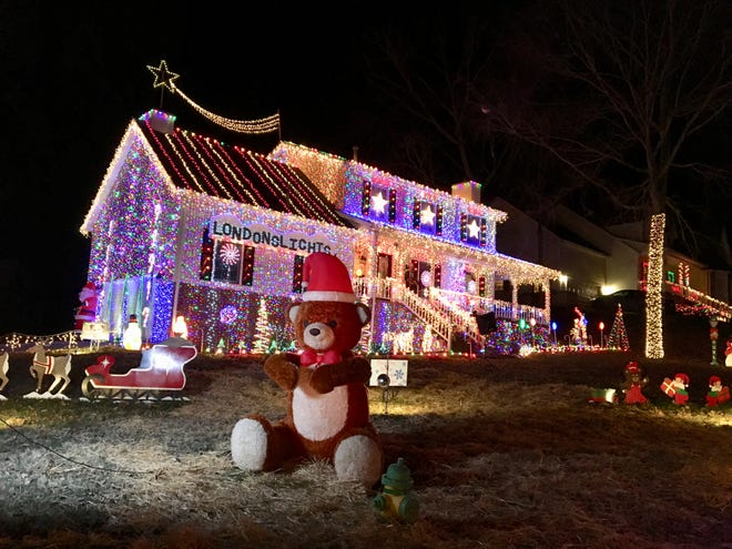 Brad Henn created a Christmas display of 300,000 lights at his home in La Vergne, Tenn., in memory of his daughter, London.