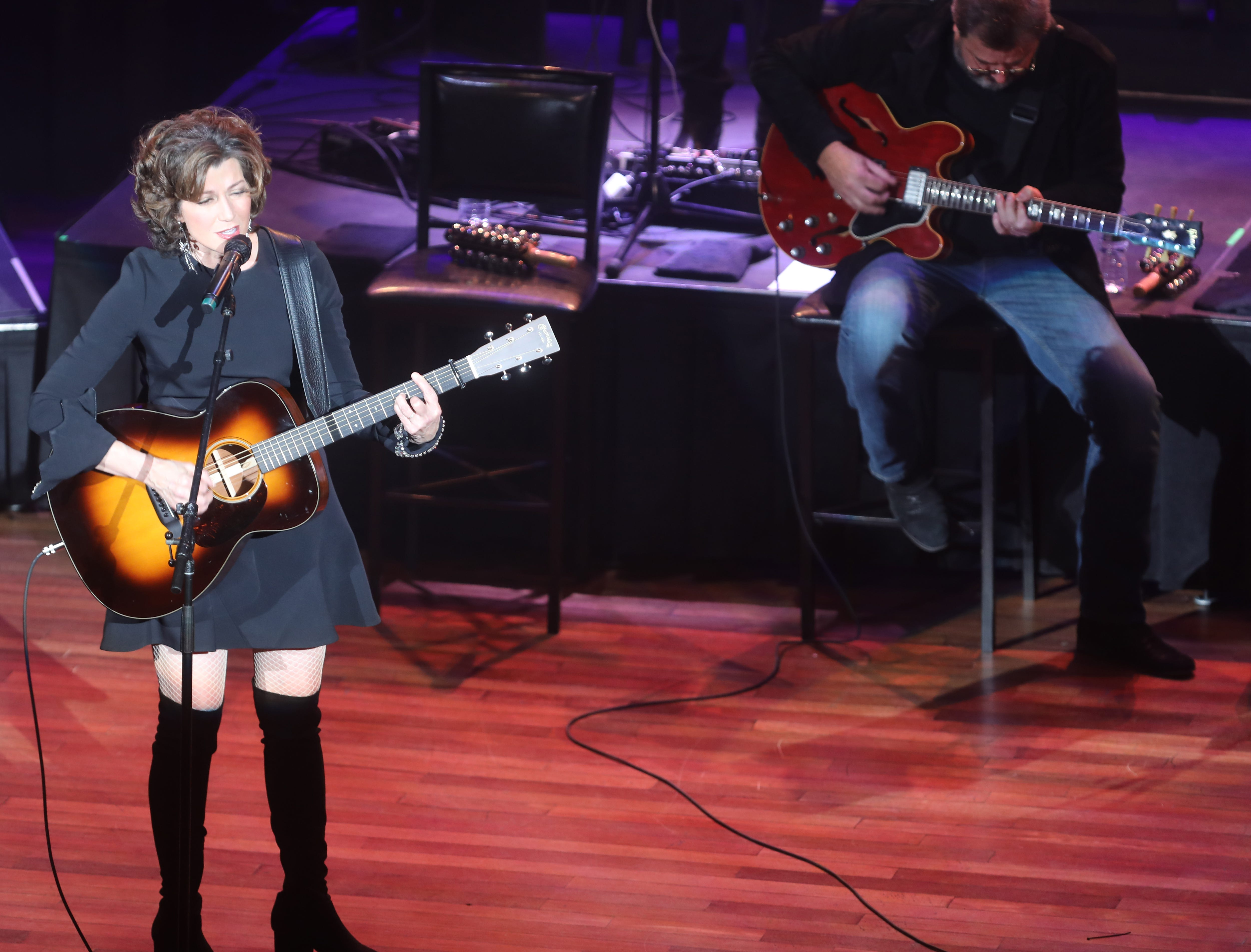 Amy Grant and Vince Gill perform at the Ryman Wednesday, Dec. 5, 2018.