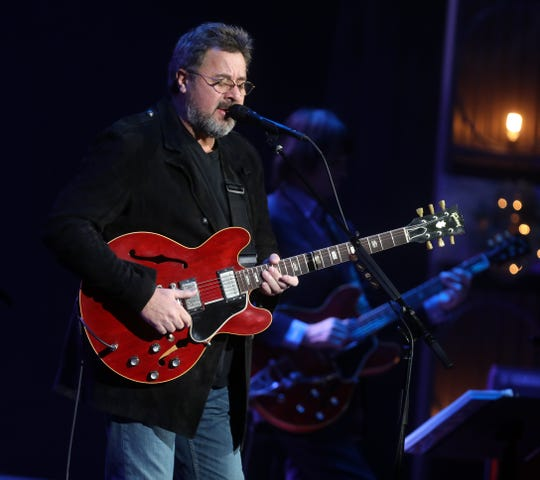 Vince Gill performs at the Ryman Auditorium on Dec. 5, 2018.