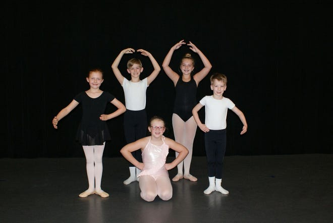 Seven young dancers from Cheatham County will take the stage in Nashville's Nutcracker running Dec. 1-23 at TPAC's Jackson Hall. The dancers are (from left): Anna Beth Talley, Forrest Boggs, Kaylin England, Camryn Magill and Eli Boggs. Not pictured: Burgia Cirigliano and Corinne Cirigliano.