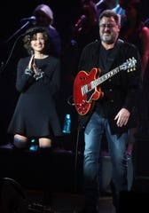 """Amy Grant and Vince Gill perform Dec. 5, 2018, as part of their """"12 Days of Christmasat the Ryman"""" residency."""