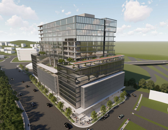 Brentwood-based GBT Realty wants to erect a 378,700-square-foot tower with a 175-room hotel, shops, and either offices or residences. The building would sit on a 1.5-acre lot bound by Murphy Road, West End Avenue and Interstate 440.