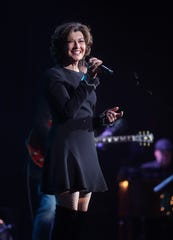 """Amy Grant performs as part of her and husband Vince Gill's """"12 Days of Christmas at the Ryman"""" on Dec. 5, 2018. Grant has been a face of Nashville Christmas celebrations for decades."""