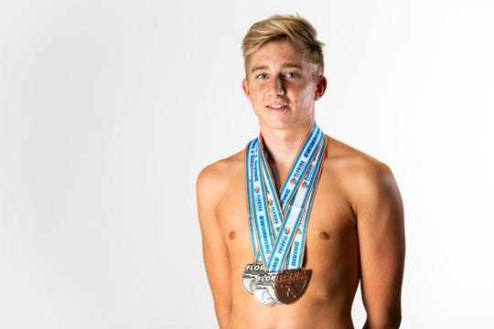 Oscar Madsen, Barron Collier High School, boys swimming, senior