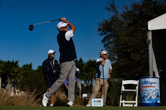 Steve Stricker tees off during the 30th annual QBE Shootout Pro-Am in December at Tiburón Golf Club at the Ritz-Carlton Golf Resort.