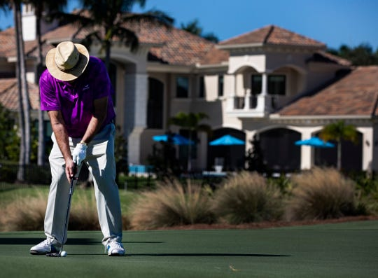 ESPN's Chris Berman putts the ball during the 30th annual QBE Shootout Pro-Am on Thursday at Tiburón Golf Club in Naples. Berman was playing with Tony Finau's group for the second round.