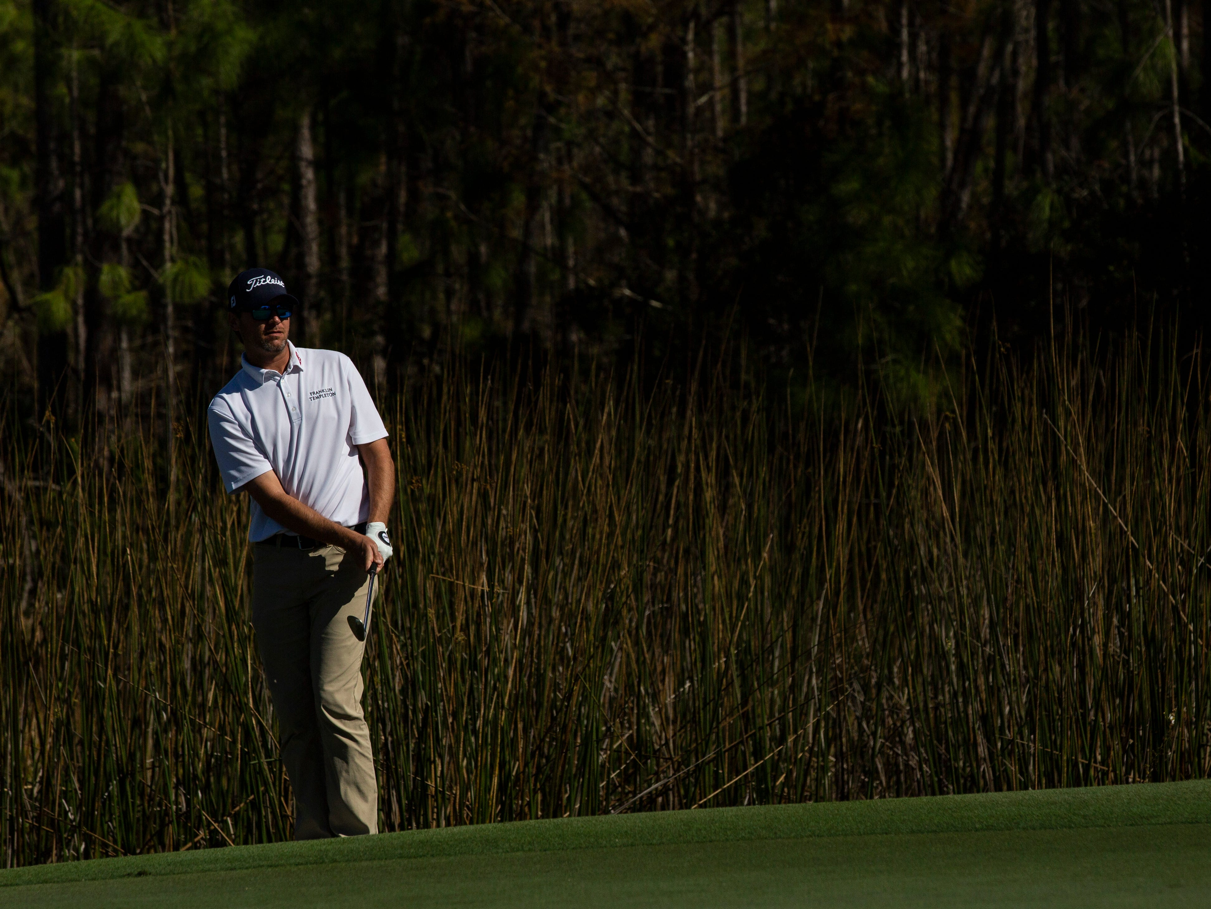 Sean O'Hair of Texas putts his ball during the 30th annual QBE Shootout Pro - Amateur round two, on Thursday, Dec. 6, 2018, at Tiburón Golf Club in Naples.