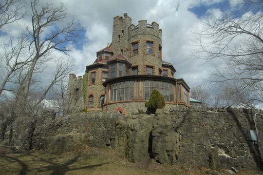 Kip's Castle, in the 11-acre Kip's Castle Park, on Crestmont Road in Verona and the border of Montclair.
