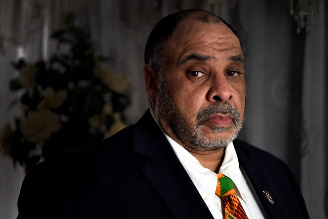 """Junius """"Jeff"""" Carter is the new president of the Bergen County chapter of the NAACP. Carter is photographed in his home on Wednesday, Dec. 5, 2018, in Englewood."""