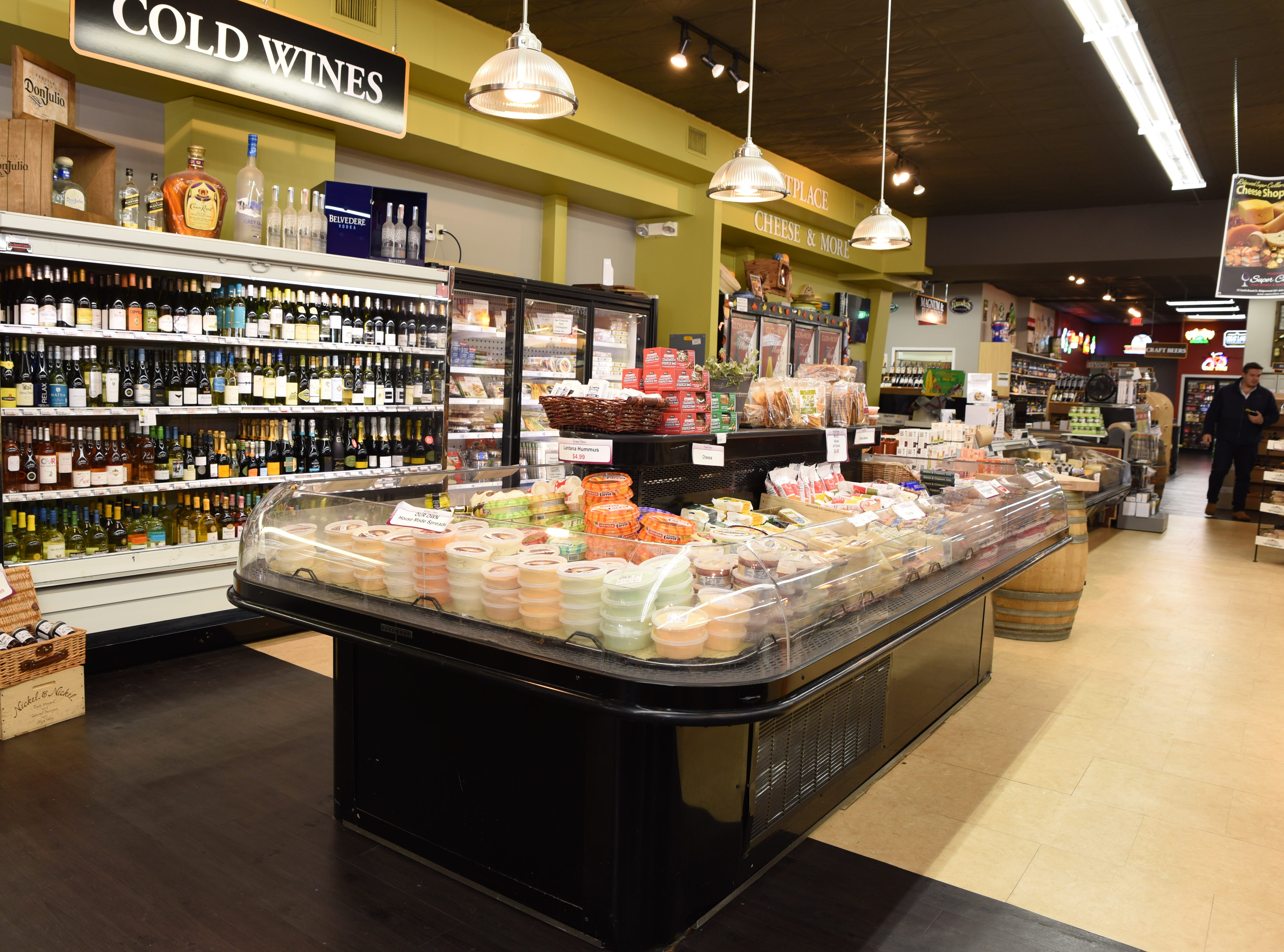 Super Cellars is more than just wines and beer -- it's also a cheese and gourmet shop in Ridgewood