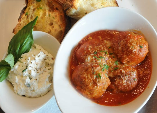 Sister restaurant to Mandara in West Caldwell, Pizzeria Mandara, offers Polpetine Appetizer:  meatballs with fresh ricotta and fresh herbs with grilled bread.