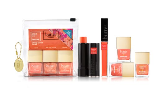 Butter London is collaborating with Pantone as its official U.S. beauty partner to introduce the 2019 Color of the Year. It is offering an exclusive six-piece collection, featuring Living Coral nail lacquers, lip gloss and a blush stick.