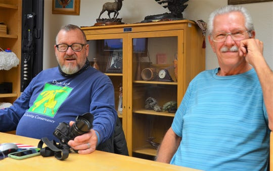 "At left, Deming Photo Club's ""Photo Bros"" Dan Gauss and Dale Richey."