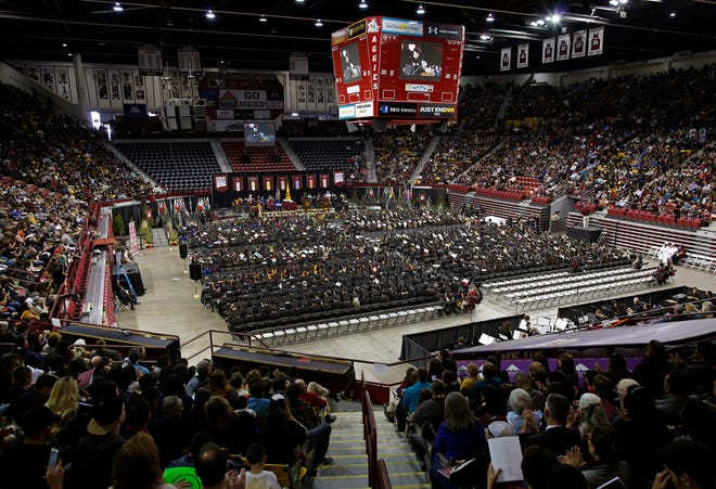 The 2018 New Mexico State University Fall Commencement will be at the Pan American Center.