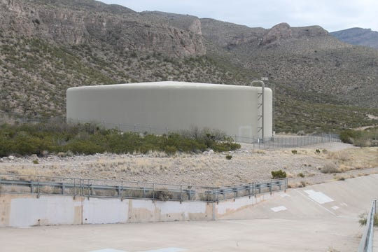 The City's ultimate goal is to rehab all of Alamogordo's water tanks, such as the Foothills Green Storage Tank near Desert Foothills Park.