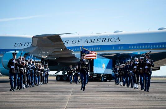 Departure Ceremony At Ellington Field Joint Reserve Base