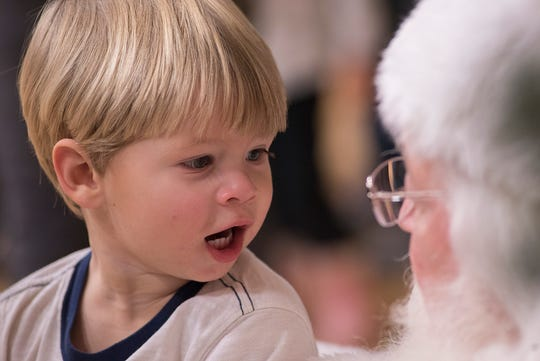 Maverick Lukowicz knows just what to say to Santa Claus.