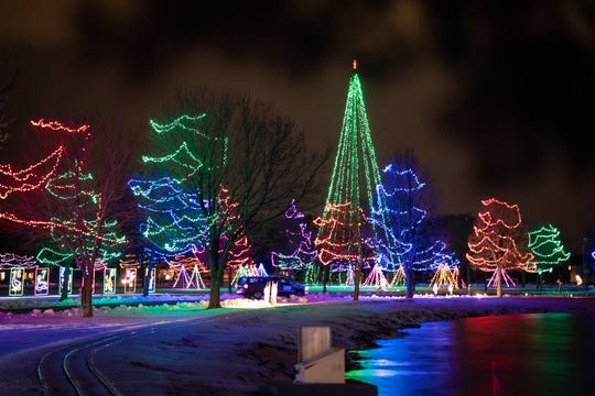 Community Night at Oshkosh's Celebration of Lights is on Christmas Day at Menominee Park.