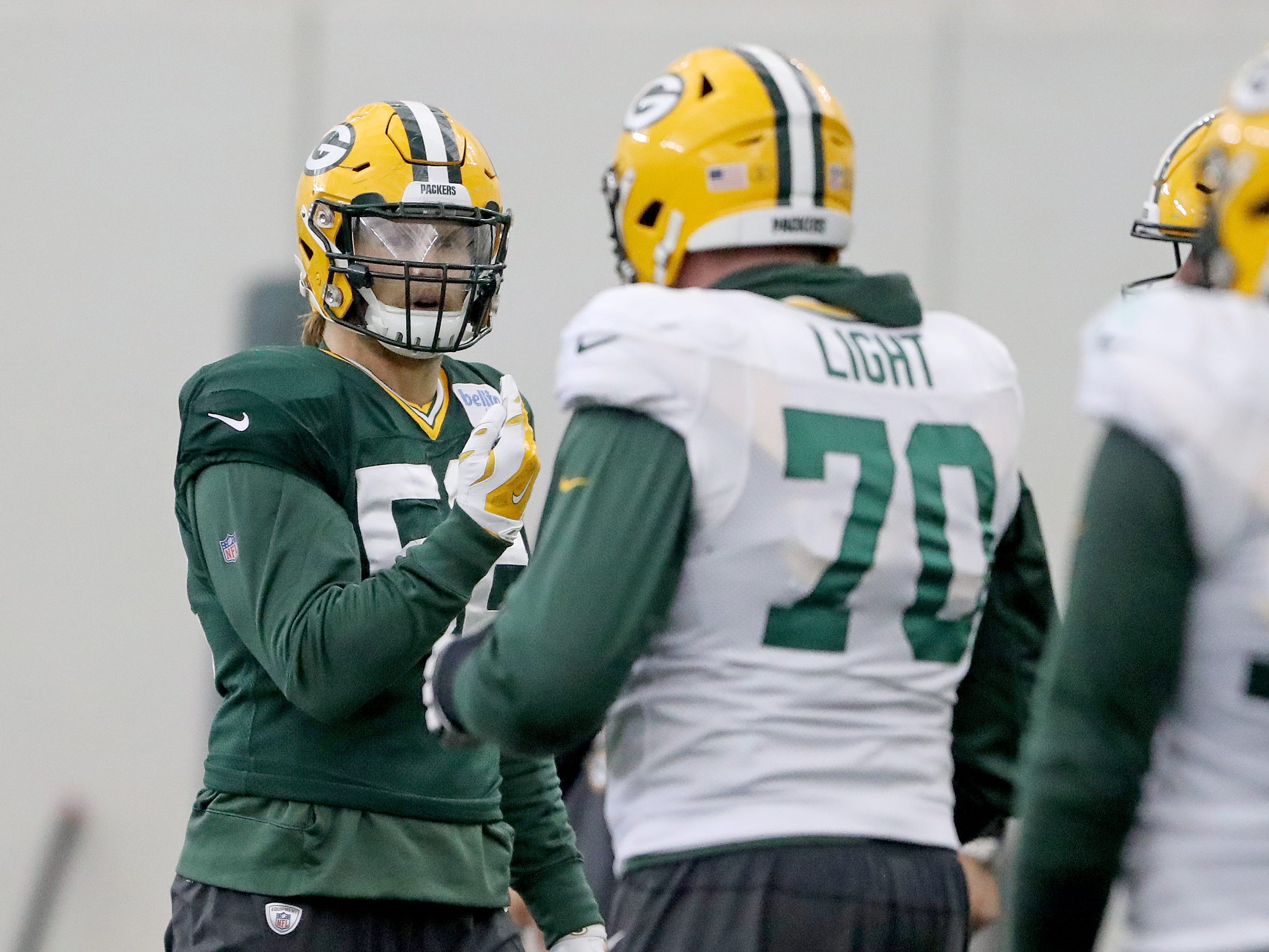 Green Bay Packers outside linebacker Clay Matthews (52) during practice Thursday, December 6, 2018 inside the Don Hutson Center in Ashwaubenon, WIs.