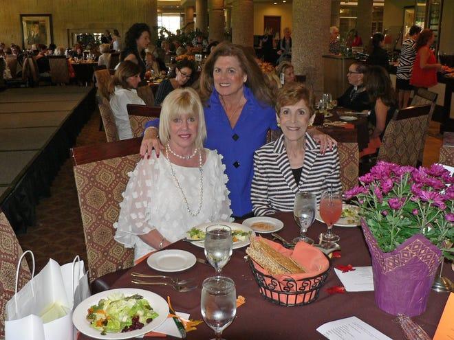 Susan Reilly treasurer, Dee Brown, president and Carol Glickman, tribute chairman