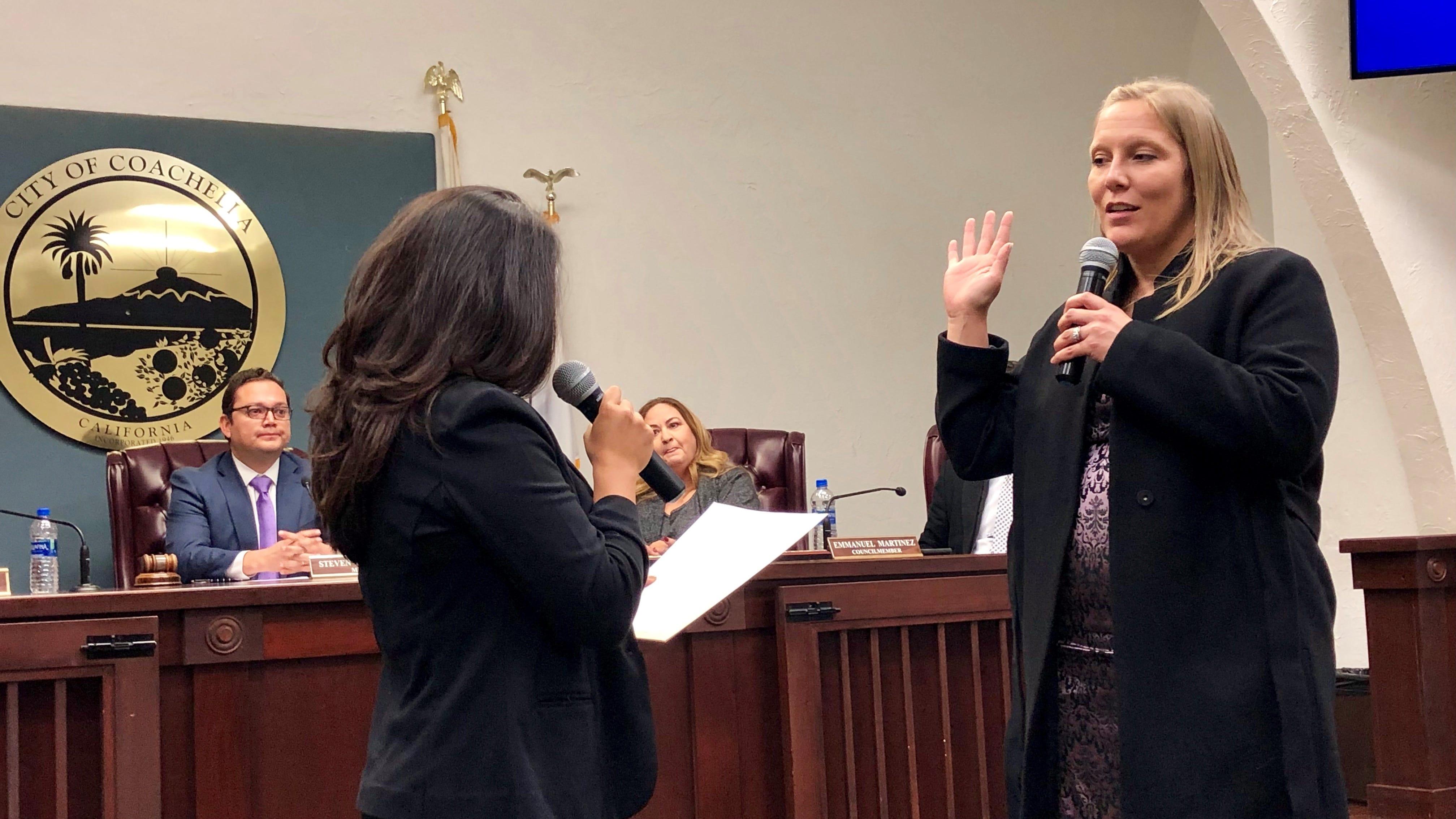 Incoming Coachella City Council members Beaman-Jacinto, Gonzalez sworn in
