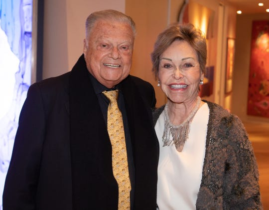 Harold Matzner and Peggy Jacobs at a pre-Choreography Festival reception in honor of Glorya Kaufman hosted by Helene Galen and Jamie Kabler