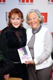 Glorya Kaufman with Sally St. John.