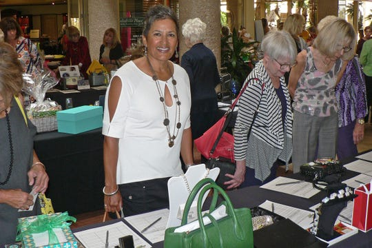 The silent auction tables were a big hit with the crowd.