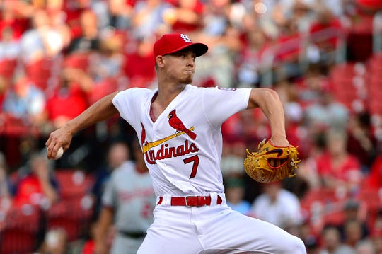Luke Weaver is the right-handed pitcher the Diamondbacks acquired from the Cardinals as part of a deal for first baseman Paul Goldschmidt.