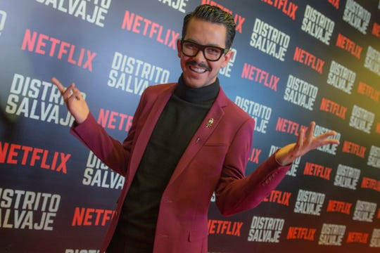 "Manolo Caro attends the premiere of ""Distrito Salvaje"" on Oct. 10, 2018, in Bogota, Colombia"