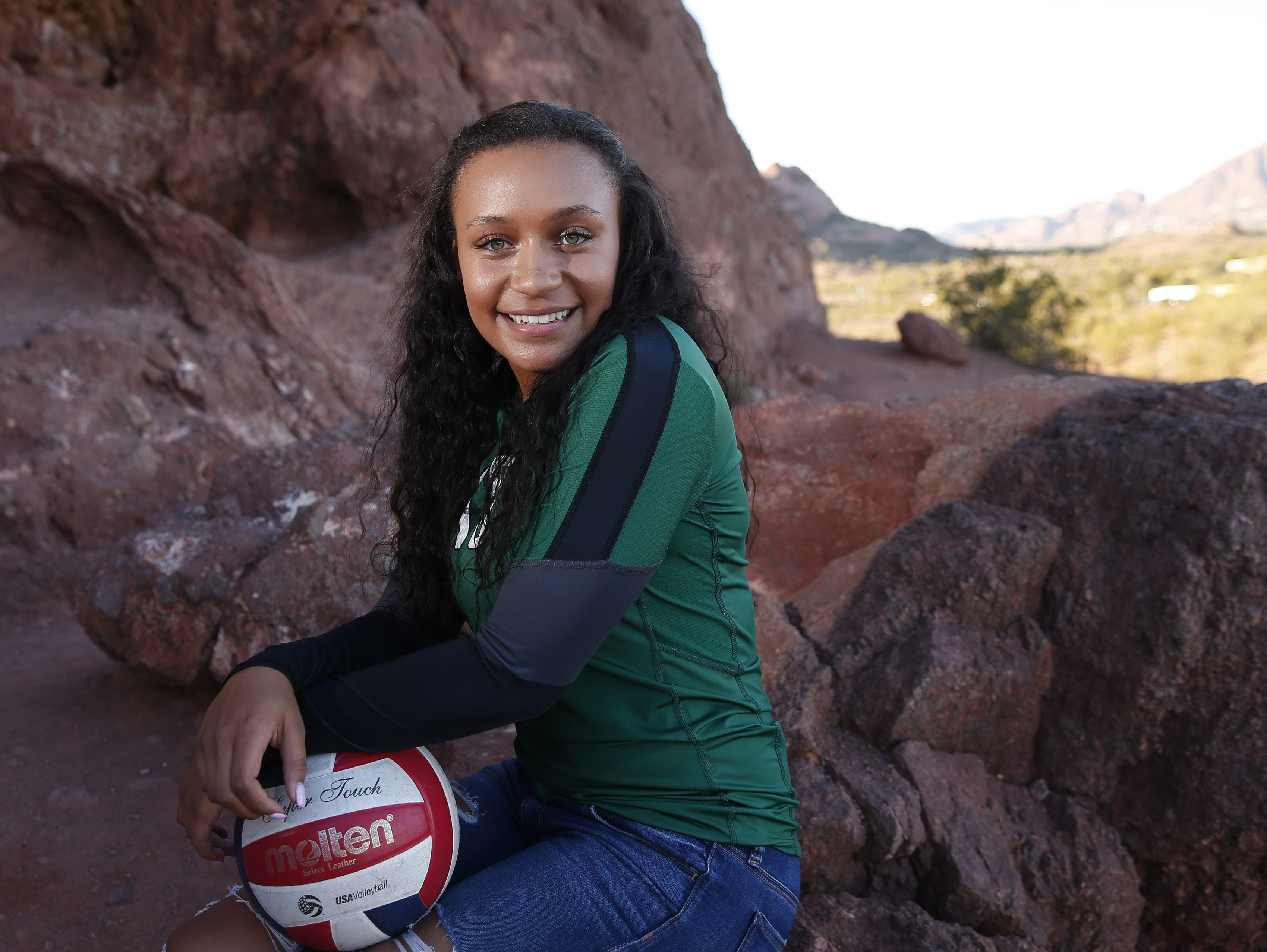 Jazmyn Wheeler of Sunnyslope is a finalist for the azcentral Sports Awards Girls High School Volleyball of the Year. #azcsportsawards