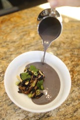Black bean soup at Confluence in Carefree, Ariz. on December 3, 2018.