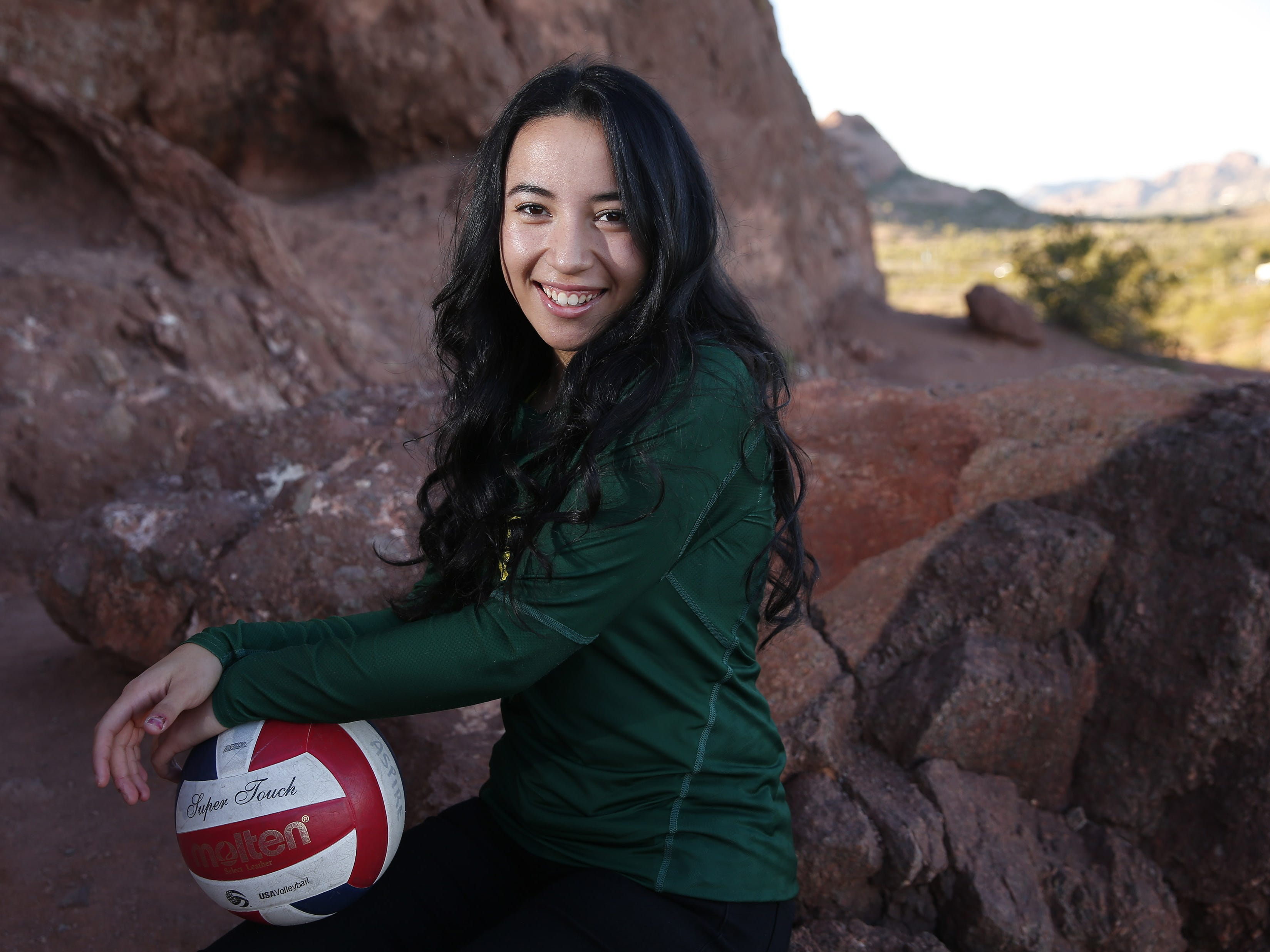 Kamaile Hiapo of Skyline is a finalist for the azcentral Sports Awards Girls High School Volleyball of the Year. #azcsportsawards
