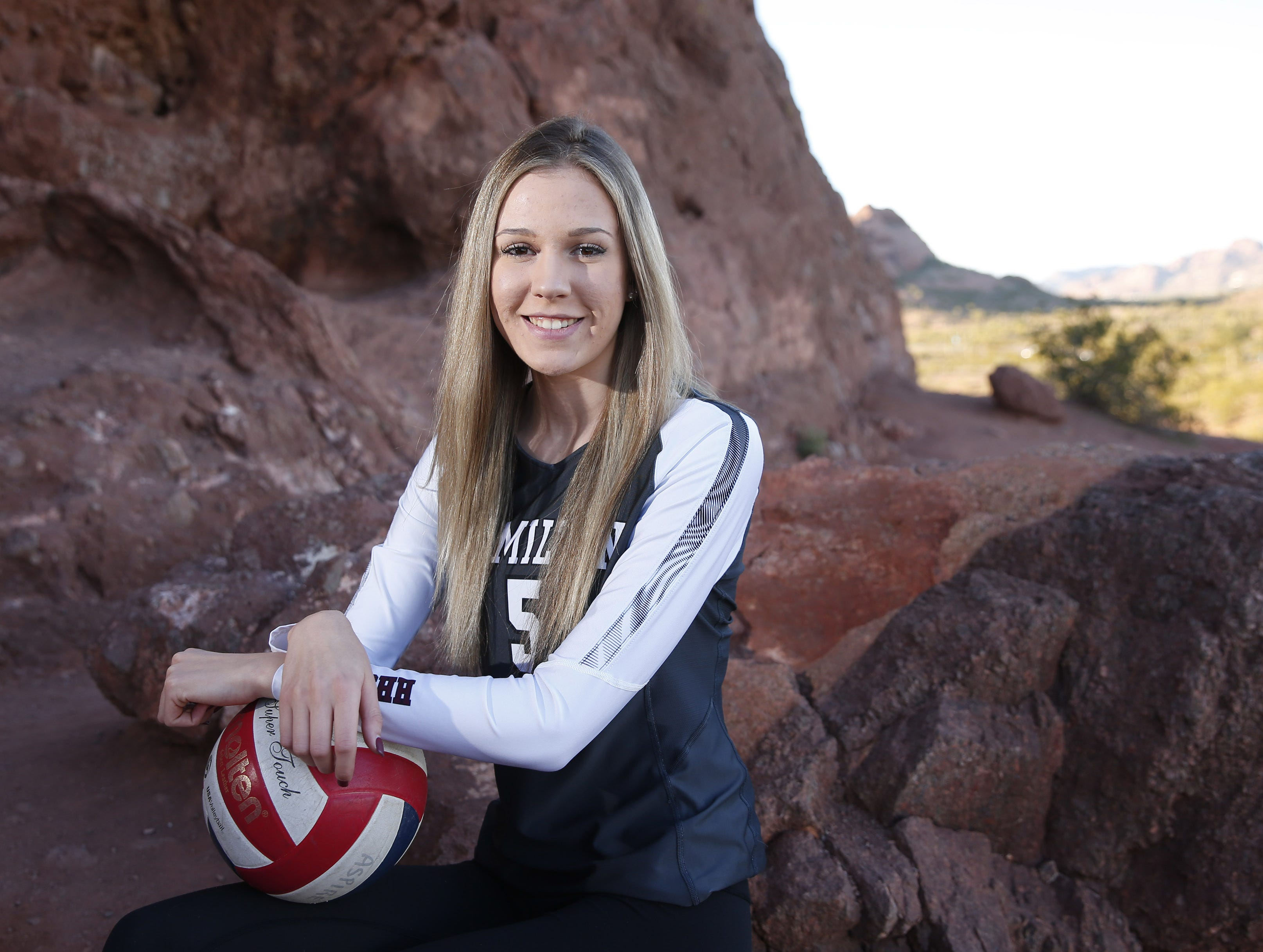 Taylor Jacobsen of Hamilton is a finalist for the azcentral Sports Awards Girls High School Volleyball of the Year. #azcsportsawards