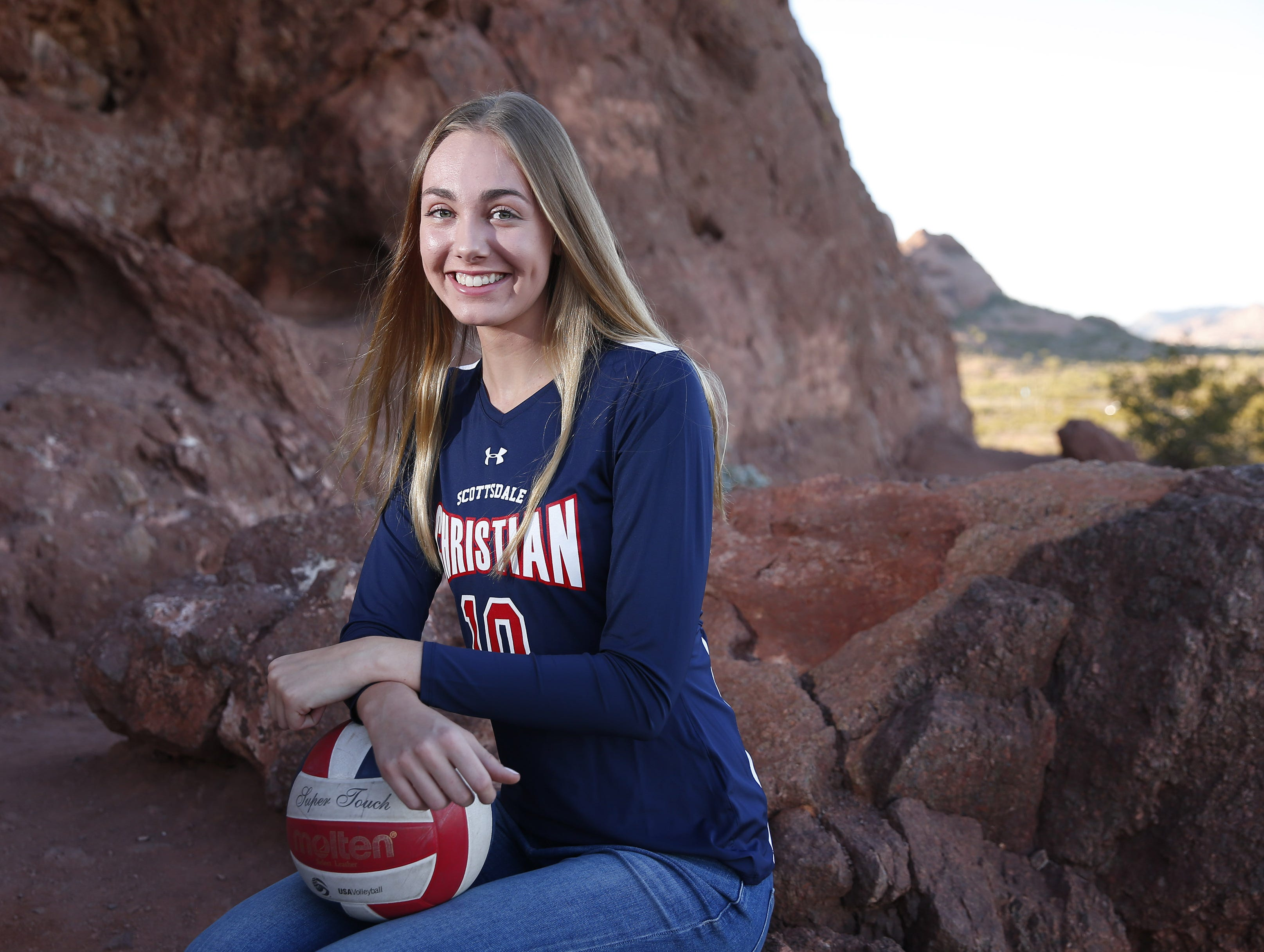Lauren Ohlinger of Scottsdale Christian is a finalist for the azcentral Sports Awards Girls High School Volleyball of the Year. #azcsportsawards