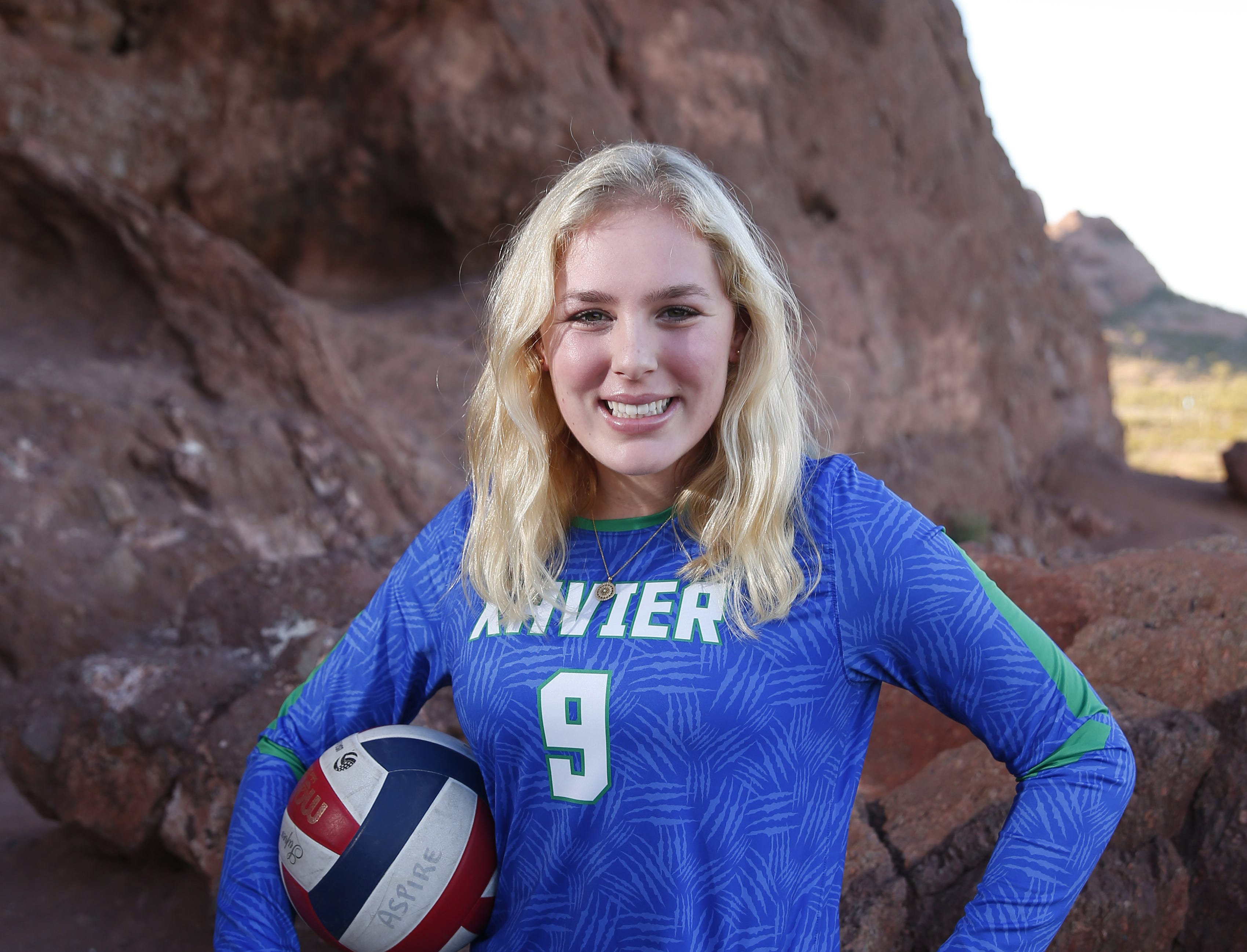 Shannon Shields of Xavier is a finalist for the azcentral Sports Awards Girls High School Volleyball of the Year. #azcsportsawards