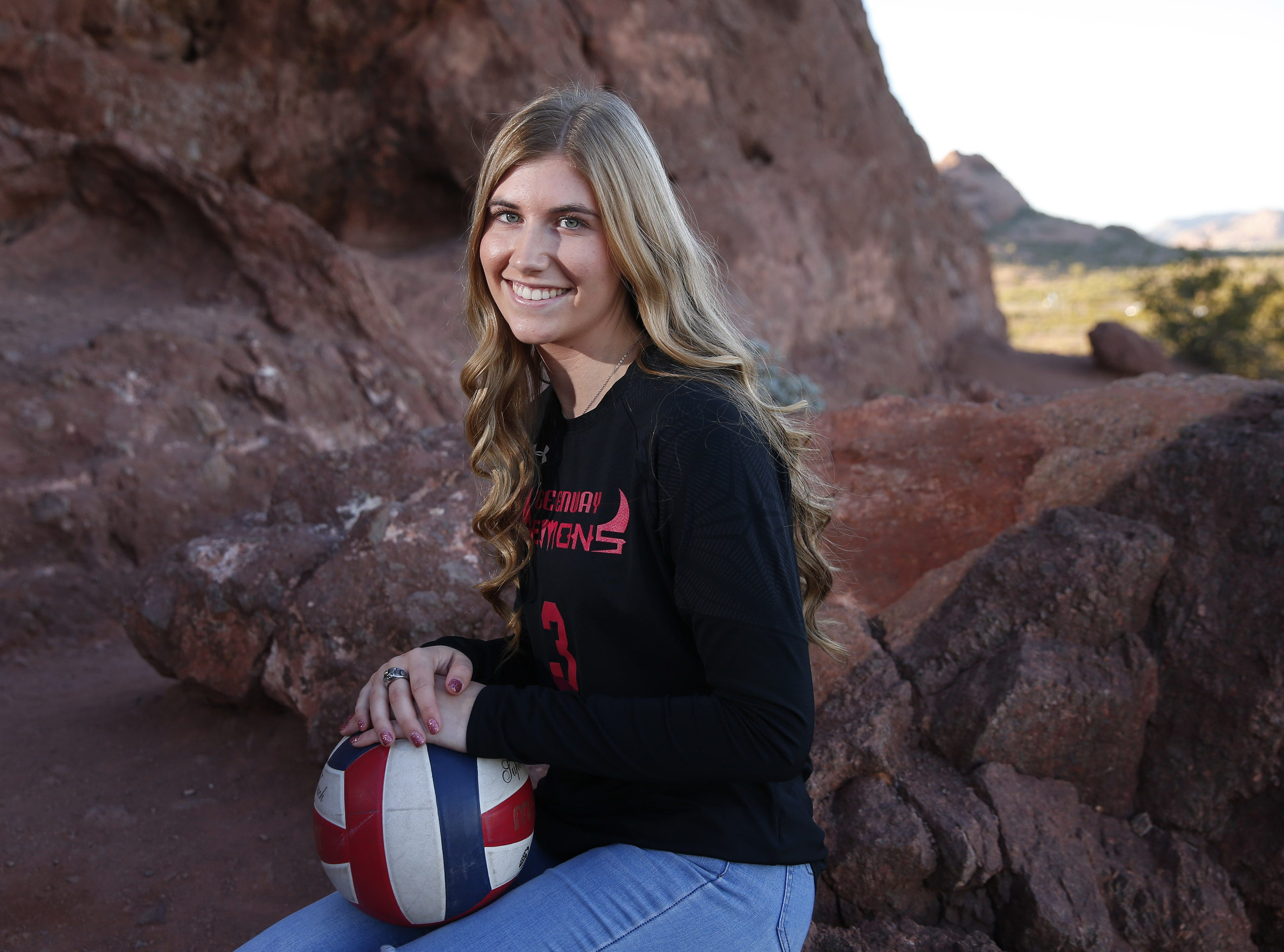 Mykenna Nelson of Greenway is a finalist for the azcentral Sports Awards Girls High School Volleyball of the Year. #azcsportsawards