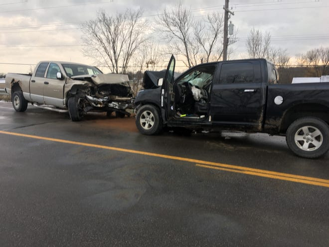 Rescue crews responded to a head-on crash on the Smiths Creek Road overpass Thursday afternoon in Kimball Township.