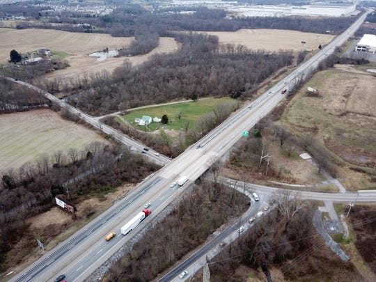 Interstate 83 passes over Canal Road in Manchester Township. Thursday, December 6, 2018.John A. Pavoncello photo