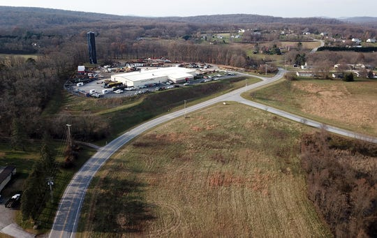 Conewago Township is weighing a proposal to build a new warehouse in the area of Cloverleaf Road that would lead to rerouting the southbound I83 exit, Thursday, December 6, 2018. John A. Pavoncello photo