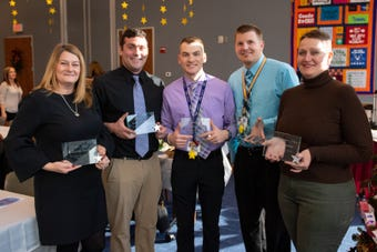 "On December 6, 2018, The York School District celebrated ""Shining Star"" teachers by honoring those who are making a difference in their schools."
