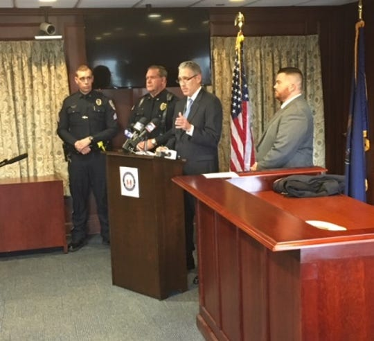 Lancaster County District Attorney Craig Stedman speaks at a news conference on Thursday, Dec. 6, 2018, announcing homicide charges for a 63-year-old woman in relation to the deaths of two Warwick High School students after an Oct. 26 crash.