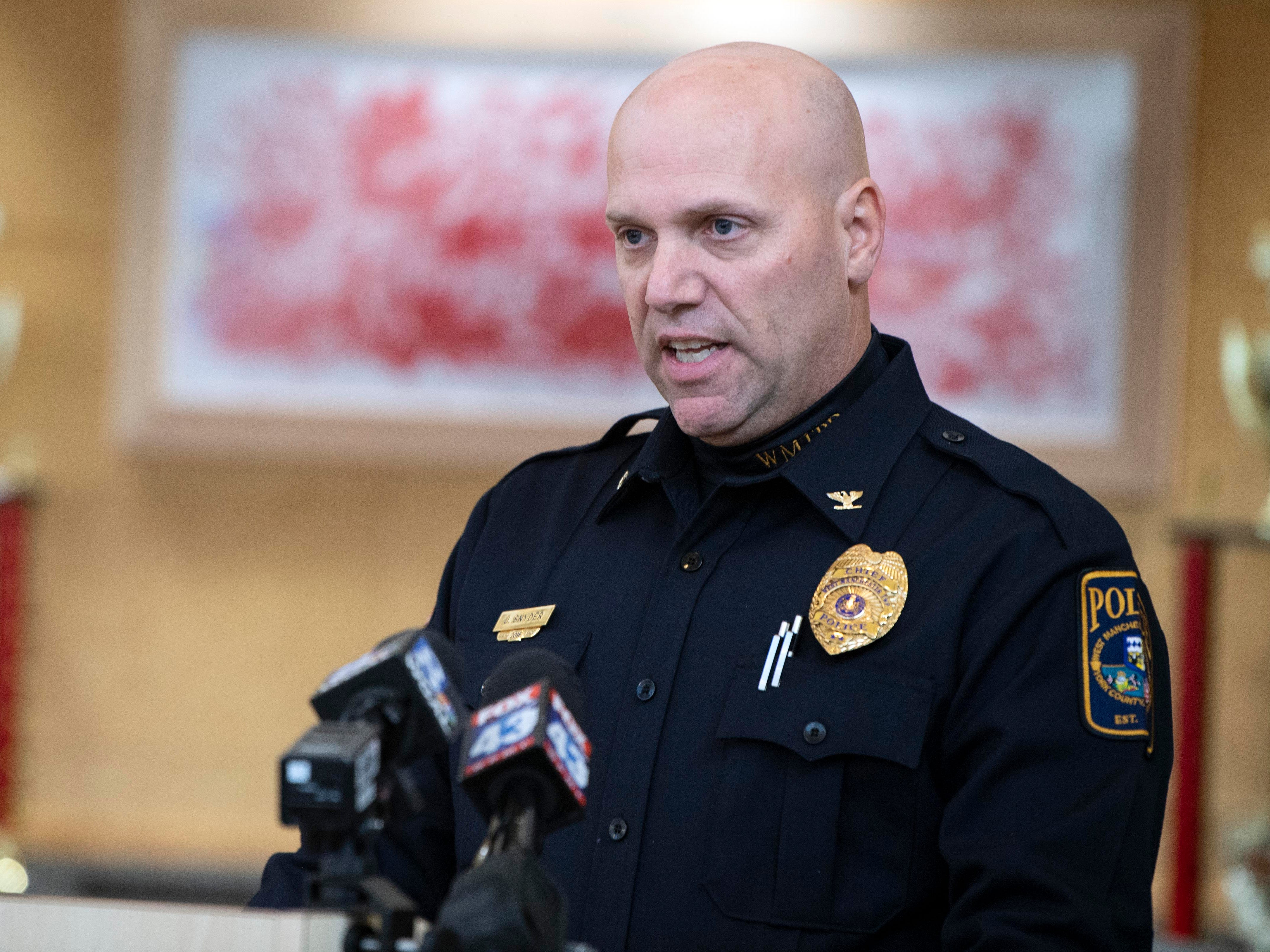 West Manchester Township Police chief John Snyder speaks about the ongoing investigation in the 2013 cold case during a press conference at the West Manchester Township building, Thursday, Dec. 6, 2018.