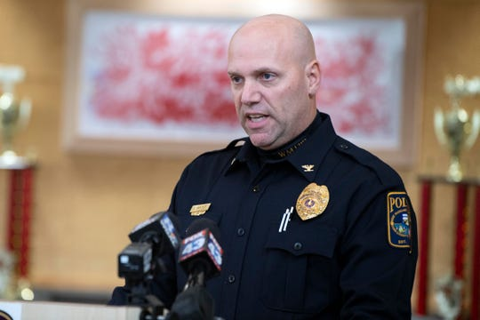 In this file photo from Dec. 6, 2018, West Manchester Township Police Chief John Snyder talks about a cold case investigation during a news conference.