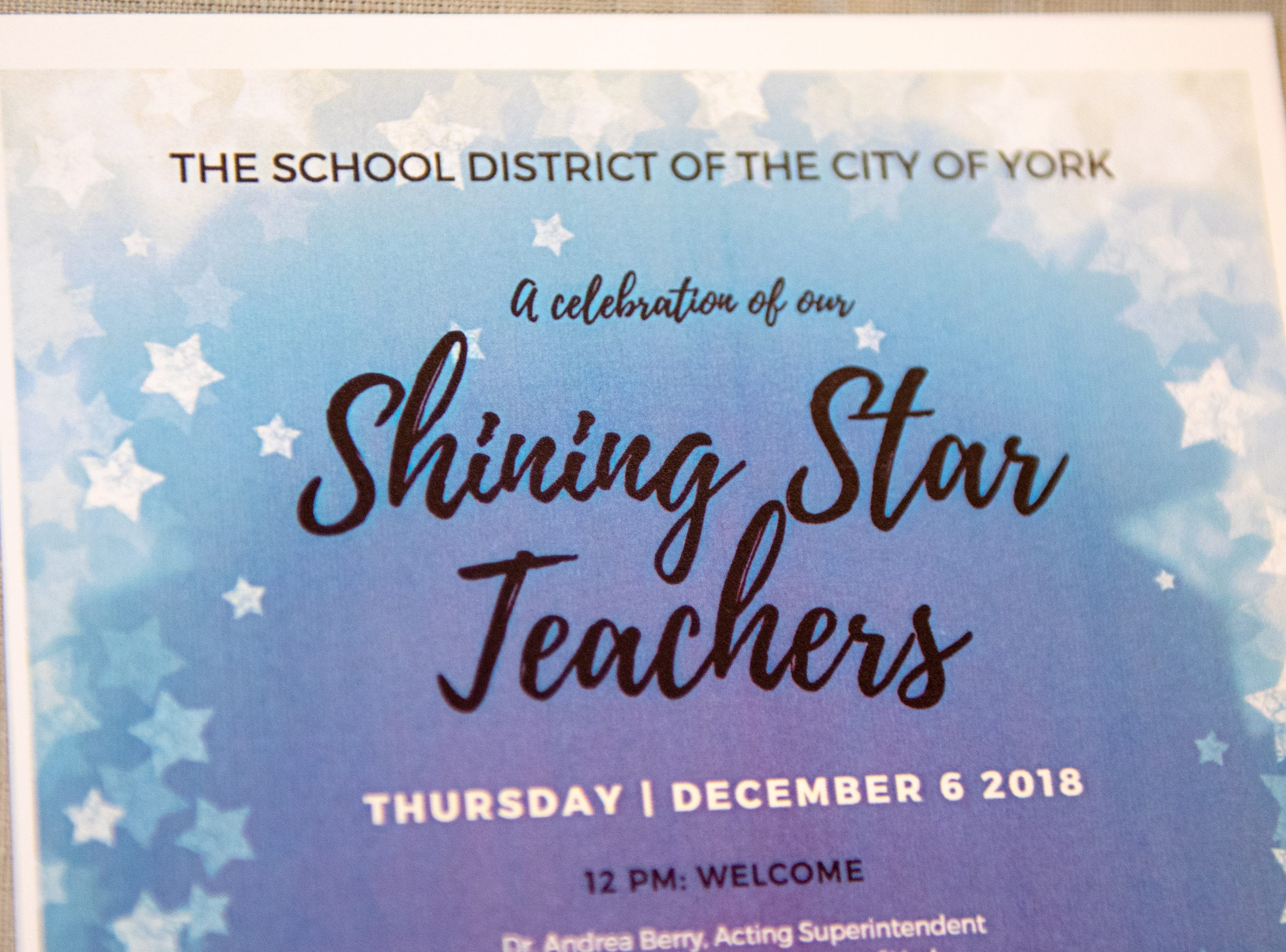 A total of 35 teachers of varying subjects were honored at the luncheon, December 6, 2018.