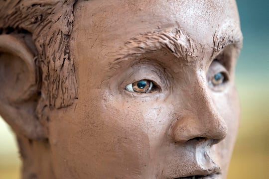 An artist's clay sculpture show what the victim of the 2013 cold case homicide might have looked like. A press conference for the cold case was held on Thursday, Dec. 6, 2018 at West Manchester Township building, showing the new clay bust and drawings.
